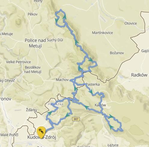 TeamPlutt Sztafeta Górska Solo Mapa trasy
